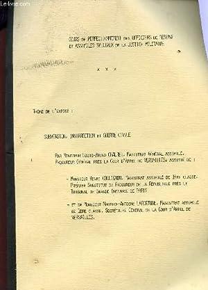 SUBVERSION, INSURRECTION ET GUERRE CIVILE.: CHALRET L.B. (MAGISTRAT GENERAL ASSIMILE) / .