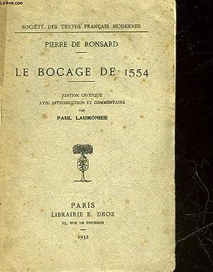 LE BOCAGE DE 1554: RONSARD PIERRE DE