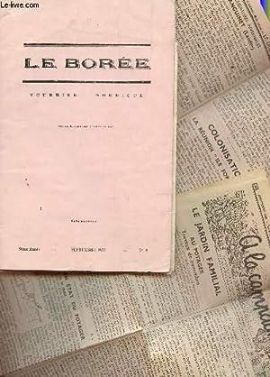 LE BOREE, COURRIER NORDIQUE / 9e ANNEE - SEPTEMBRE 1955 - N°3 /: COLLECTIF