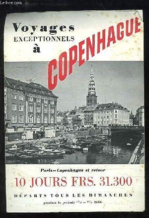 """Dépliant """"Voyages exceptionnel à Copenhague"""": COLLECTIF"""