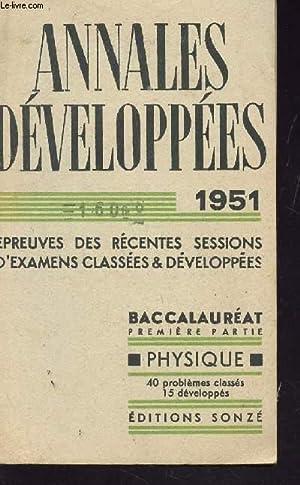 PHYSIQUE - 40 PROBLEMES CLASSES - 15 DEVELOPPES / EPREUVES DES RECENTES SESSIONS D'...