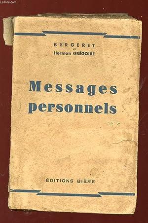 MESSAGE PERSONNELS.: GREGOIRE HERMAN.