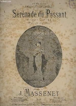 SERENADE DE ZANETTO - N°1 : MEZZO SOPRANO OU BARYTON: MASSENET J. / COPPEE FRANCOIS