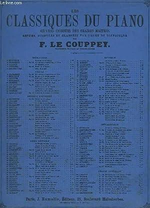 LES CLASSIQUES DU PIANO : SONATE EN SOL MAJEUR - OP. 35 N°2.: DUSSEK J. L. / LE COUPPEY F.