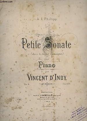 PETITE SONATE POUR PIANO - OP. 9: INDY VINCENT (D')