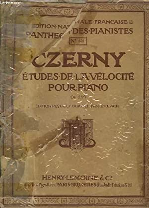 ETUDE DE LA VELOCITE POUR PIANO -: CZERNY CH. /