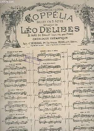 COPPELIA - BALLET EN 3 ACTES DE LEO DELIBES - N°1 : PRELUGE ET VALSE - piano a 4 mains.: ...