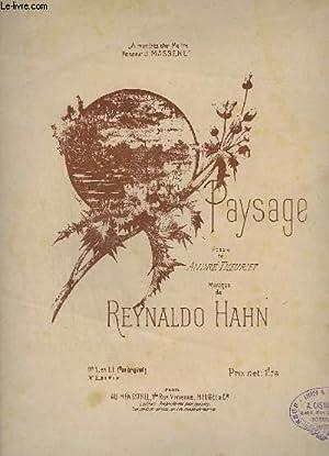 PAYSAGE - N°1 : EN UT.: HAHN REYNALDO / THEURIET ANDRE
