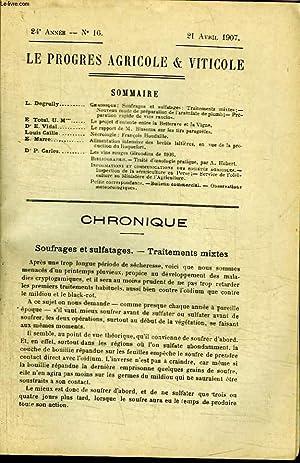 Le Progrès Agricole et Viticole, N°16 - 24ème année : Nouveau mode de pr&...