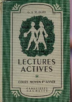 LECTURES ACTIVES - COURS MOYEN 1ere ANNEE.: DURU G ET M.