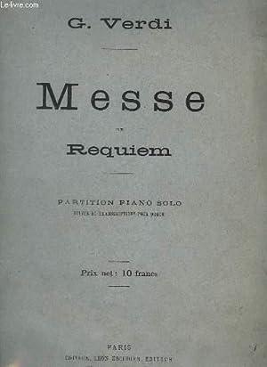MESSE DE REQUIEM - PIANO SOLO SUIVIE: VERDI G. /