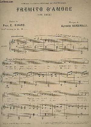 FREMITO D'AMORE (VOS YEUX) - PIANO.: BARBIROLLI ALFREDO