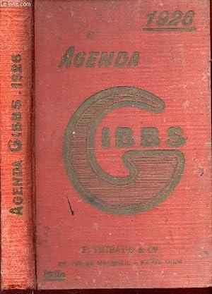 AGENDA GIBBS 1926 / INCIMPLET.: COLLECTIF
