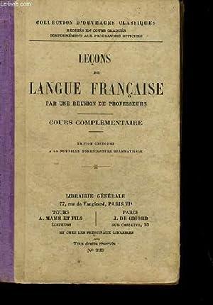 LECONS DE LANGUE FRANCAISE.: COLLECTIF.