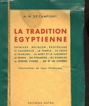 LA TRADITION EGYTIENNE: CAMPIGNY H. M. DE