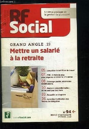 RF Social N°94 : Mettre un salarié: VILLEGUERIN Yves de