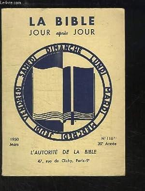 La Bible, Jour après Jour N°116 bis - 30e année : L'Autorité de la ...