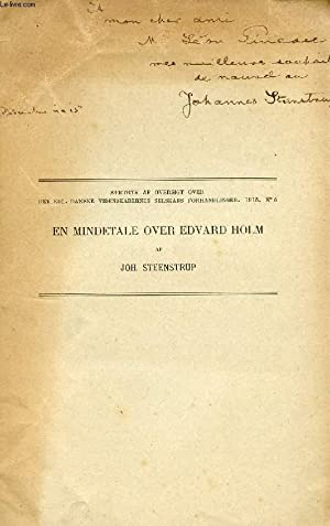 EN MINDETALE OVER EDVARD HOLM: STEENSTRUP JOHANNES