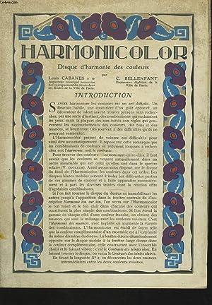 HARMONICOLOR. DISQUE D'HARMONIE DES COULEURS.: LOUIS CABANES, C. BELLENFANT