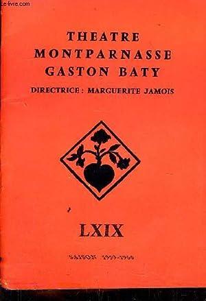 BECKET OU L'HONNEUR DE DIEU - PROGRAMME DE THEATRE DE MONTPARNASSE GASTON BATY - SAISON 1959 ...