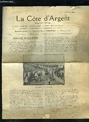 LA COTE D'ARGENT - 1ERE SERIE - BULLETIN OFFICIEL N° 1: COLLECTIF