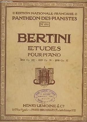 25 ETUDES POUR PIANO POUR LES PETITES MAINS - OP.100 - N°1088 - CAHIER 1.: BERTITNI