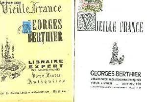 VIEILLE FRANCE - GEORGES BERTHIER - LIBRAIRIE EXPERT - LOT DE 6 CATALOGUES: COLLECTIF