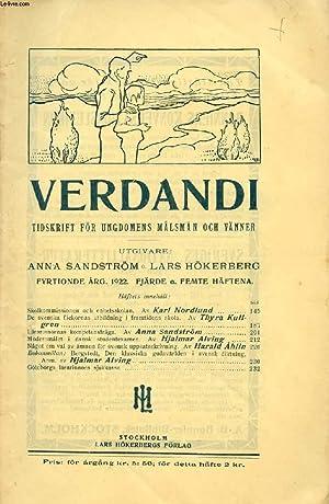 VERDANDI, FYRTIONDE ÅRG. 1922, FJÄRDE O. FEMTE: COLLECTIF