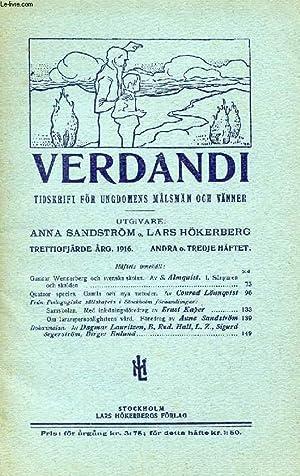 VERDANDI, TRETTIOFJÄRDE ÅRG. 1916, ANDRA O. TREDJE HÄFTET, TIDSKRIFT FÖR ...