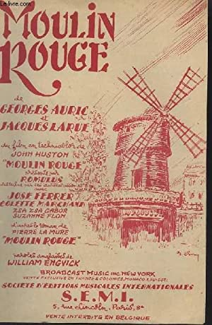 MOULIN ROUGE / THE SONG FROM MOULIN ROUGE - PAROLES FRANCAISES ET ANGLAISES.: ENGVICK WILLIAM