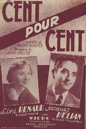 CENT POUR CENT - FOX-TROT.: GASTE LOUIS /