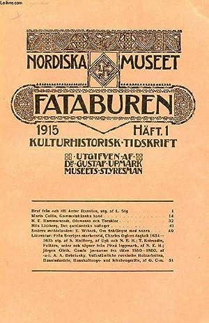 FATABUREN, NORDISKA MUSEET, 1915, HÄFT 1, KULTURHISTORISK: COLLECTIF