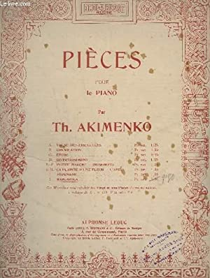 PIECES POUR PIANO - J : BARCAROLA - OP.30.: AKIMENKO TH.