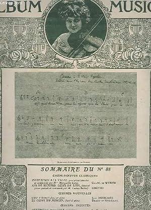 ALBUM MUSICA - N°88 - INVITATION A LA VALSE + AIR DE RICHARD COEUR DE LION + QUO VADIS ? + LE ...