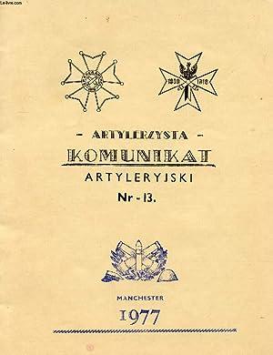KOMUNIKAT ARTYLERYJSKI, Nr 13: COLLECTIF