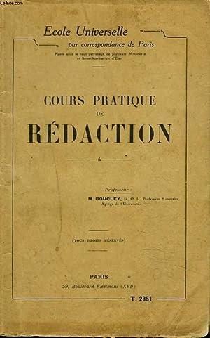 COURS PRATIQUE DE REDACTION: COLLECTIF