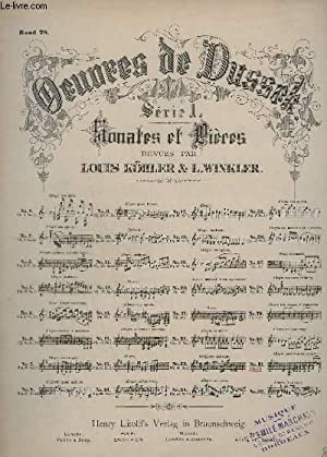 OEUVRES DE DUSSEK - SERIE 1 : SONATES ET PRIERES - N°31 : OP.77.: DUSSEK - KÖHLER LOUIS / ...