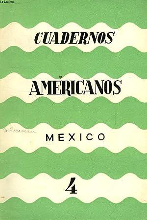 CUADERNOS AMERICANOS, MEXICO, AÑO VIII, VOL. XLVI, N° 4, JULIO-AGOSTO 1949: COLLECTIF