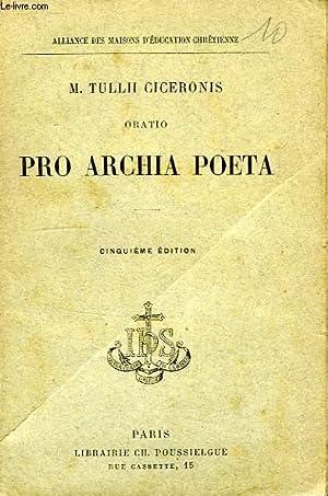 ORATIO PRO ARCHIA POETA, TEXTE LATIN: CICERON, Par L'ABBE