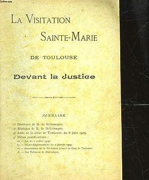 LA VISITATION SAINTE-MARIE DE TOULOUSE DEVANT LA JUSTICE: COLLECTIF