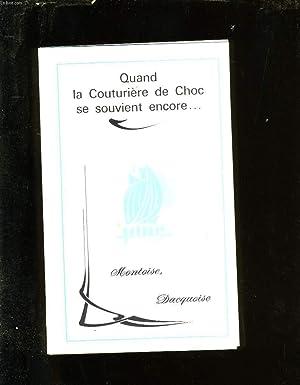 QUAND LA COUTURIERE DE CHOC SE SOUVIENT ENCORE. .: JANE LARDAS.