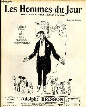 LES HOMMES DU JOUR N° 169. ADOLPHE BRISSON.: Texte de FLAX, Dessins A. DELANNOY.