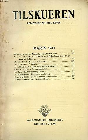 TILSKUEREN, MARTS 1911 (INDHOLD: Harald Høffding: Mindetale: COLLECTIF