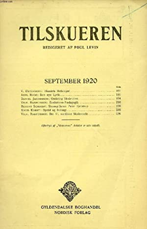 TILSKUEREN, SEPT. 1920 (INDHOLD: V. Østerberg: Hamiets: COLLECTIF