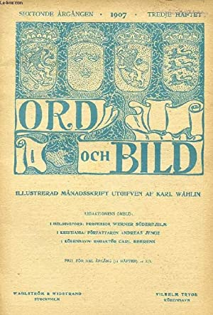 ORD OCH BILD, SEXTONDE ÅRGÅNGEN, 1907, TREDJE: COLLECTIF
