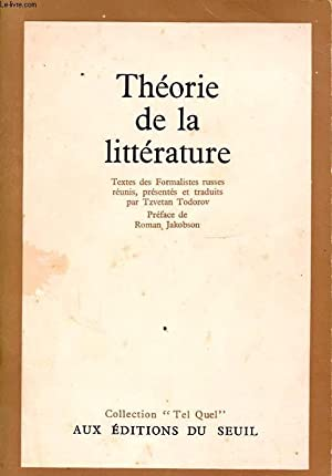 THEORIE DE LA LITTERATURE: COLLECTIF