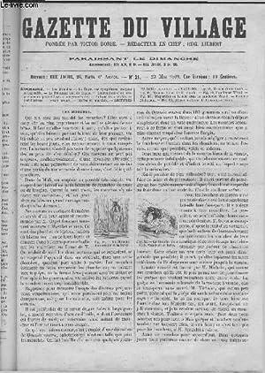 GAZETTE DU VILLAGE sixième année N° 21 - Les Mouches.: VICTOR BORIE / LIEBERT EUG...