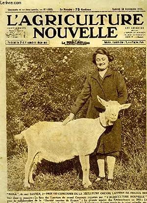 L'AGRICULTURE NOUVELLE N° 1599 - La grande misère des emboucheurs en 1931, E. L&...