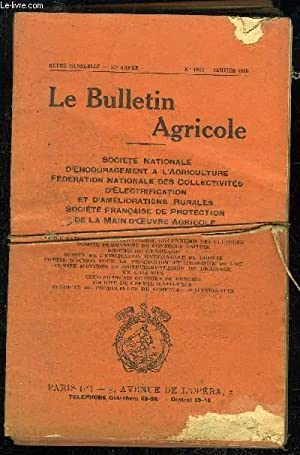 LE BULLETIN AGRICOLE - 11 NUMEROS + 2 SUPPLEMENTS - N°1862 A 1873: COLLECTIF