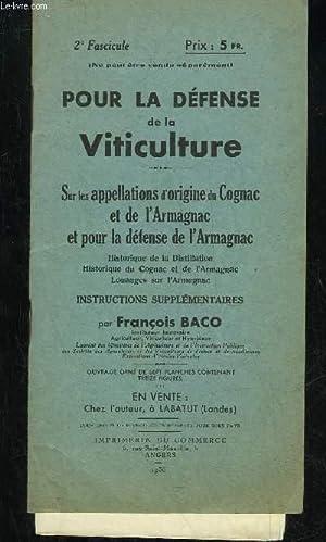 POUR LA DEFENSE DE LA VITICULTURE: BACO FRANCOIS